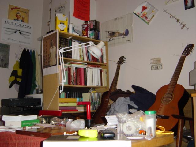 Her bodde jeg i 2003. Slik så det helt typisk ut i mine 11 kvadrat. Hit kom jeg altså hver dag hjem