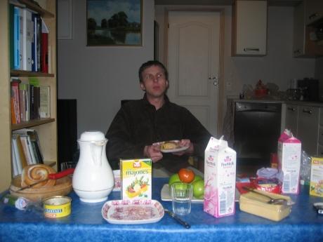 Bilde av meg, frokost