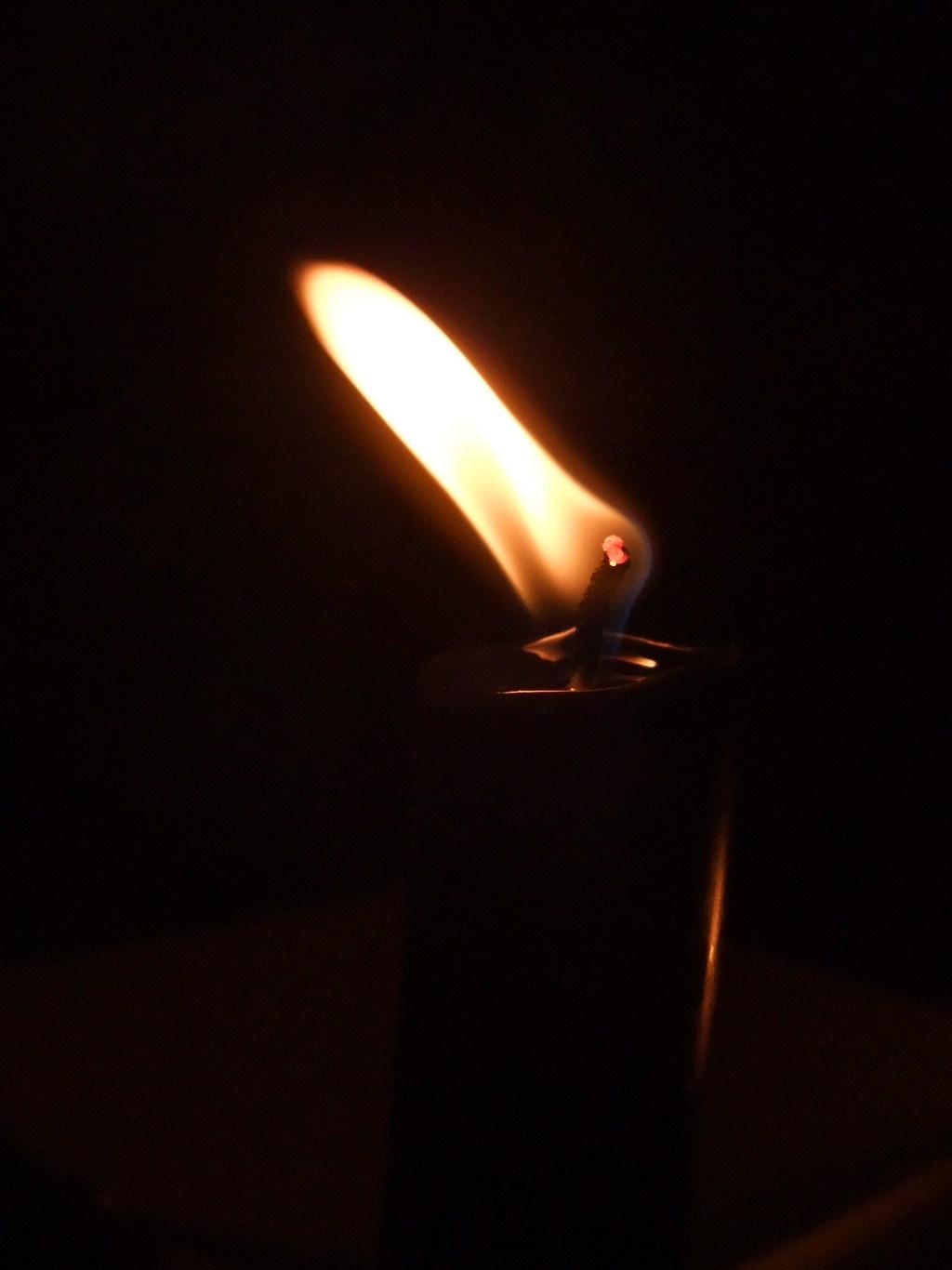 Stearinlys, skjevt, lys