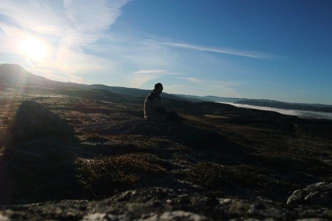 Soloppgang, Hardangervidda