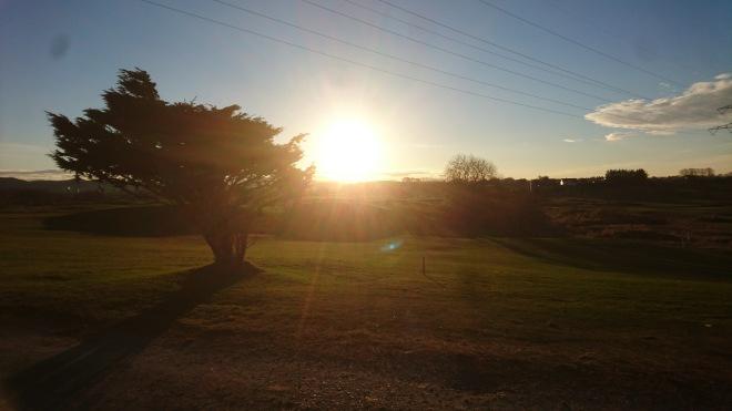 Bærheim, golfbane, morgen, Rogaland, Sandnes